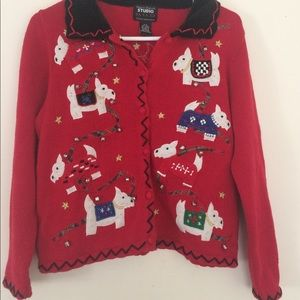 Sweaters - Scottie dog ugly Christmas sweater